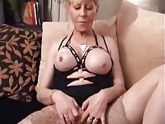 Tarty Granny in Stockings Doubles Roughly