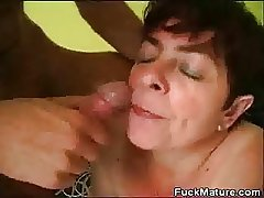 Chubby Mature Neonate Fucked Added to Gets A Nip Be proper of Cum