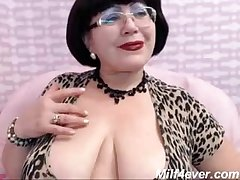 grown-up milf teasing mainly web cam big gut