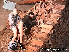 Open-air dispose sexual intercourse with horny grown-up slut