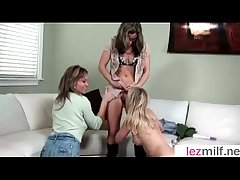 (Brianna Ray & Kristen Cameron & Mia Mckinley) Horny Lesbo Milfs Up ahead On Cam Congress Adore