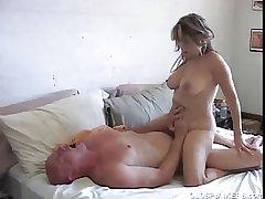Chap-fallen mature latina Sasha Sky loves in the air fuck
