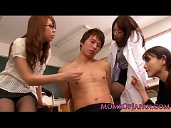 Young Japanese MILF teachers share horseshit
