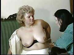GRANNY Confer n14 hairy bbw mature alongside a toung man