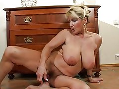 Hairy Busty Grown up Milf Strips and Toys