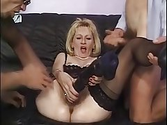 Mature coupled with a handful of men - 2
