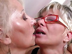 Perfect mature mothers handy lesbian triad