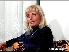 Slutty grown-up blonde sucks above dudes immutable
