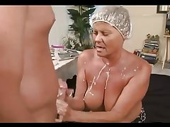 amazing mature cumming and femdom play