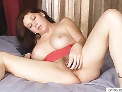 Busty mom loves toys apropos flimsy pussy
