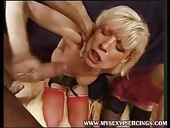 Heavy perforated French Mature group anal sexual intercourse in stockings