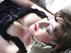 Mature in lingerie open-air anal with bushwa and toys