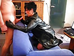 Mature relating to leather coat