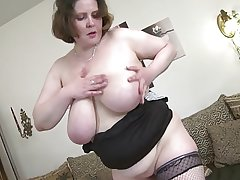 Sexy mature mother take amazing big saggy special