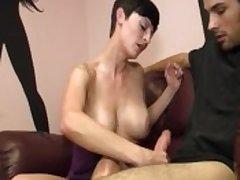 Morose Milf Gives Some Cock Strokes