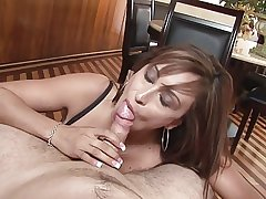 Of age lass does A- blowjob POV
