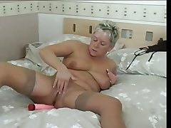Hasty hairy blonde mature and her socialistic cock