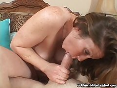 Rabelaisian cougar Keira Kensley pounded with massive flannel
