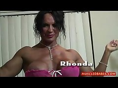 Kinky light of one's life with oiled muscled milf