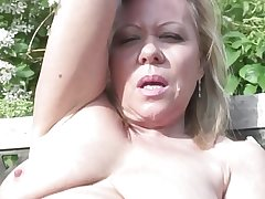 Full-grown slut mother and wife with peckish pussy