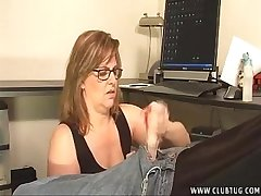Matured Lady Takes Care Of A Young Dick
