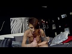 Precipitous haired and tattooed milf banged pov