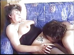 Adult seduces young guy near porn