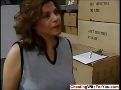 Mature Latina fucking her boss at impersonate  Who is she??
