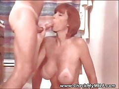Check My MILF - suped hit busty join in matrimony eating cum