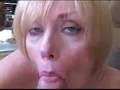 Grown up wife and son roleplay fuck and facial