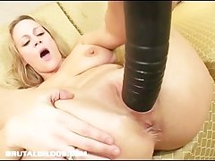 Lord it over milf stretched by brutal dildo