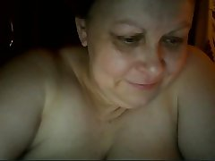Hot Russian mature nourisher Maria play on skype