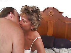 Mature older unspecific with a shaved pussy loves a cock stuffed anent her ass