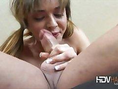 Blonde matured amateur Annabella masturbates with a trinket