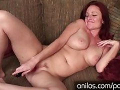 Busty redhead cougar depending on your steadfast cock