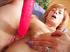 Itty-bitty blarney - Hot Mature use a fist dildo to orgasm