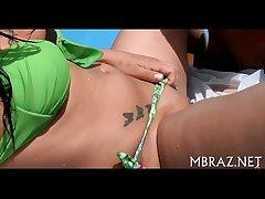 Brazilian mamita sucks hard cock