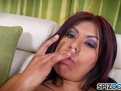 Nippon milf sucks cock and loves cum more than tits