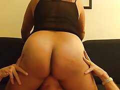 Mature Asian gets pussy ribbons