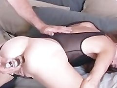 Mature untrained loves it anal