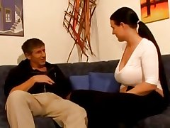 Enticing German Mature brunette close by big boobs disjointedly fucking