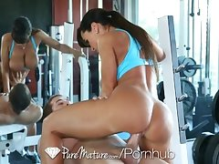Lisa Ann warming up is giving a chum a constant cock - PureMature
