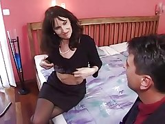 adult milf in stockings gets a sympathetic fuck