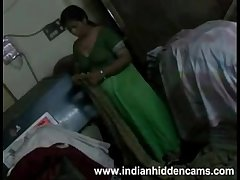 "Amateur Indian Housewife ""Bhabhi"" Only of two minds Her Blouse Exposing BigTits"