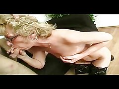 Fleeting Titted Mature Milf in Glasses and Stockings Fucks