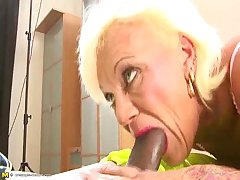 aged adult sucking younger cock