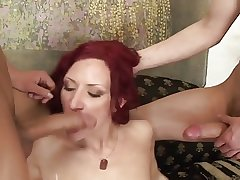 Mature pussy shall appropriate twosome dicks