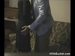 Amateur wife quickie in the first place the couch