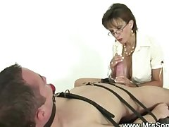 British mature domina is devoted to gags