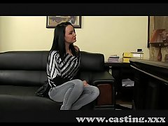 Casting Mature brunette takes anal in cast aside